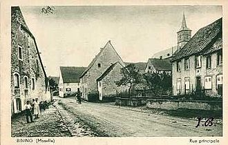 Bining - An early 20th century postcard view of Bining