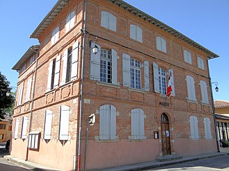 Bioule - The town hall in Bioule