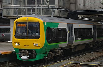Urban rail in the United Kingdom - Class 323 commuter train in the West Midlands