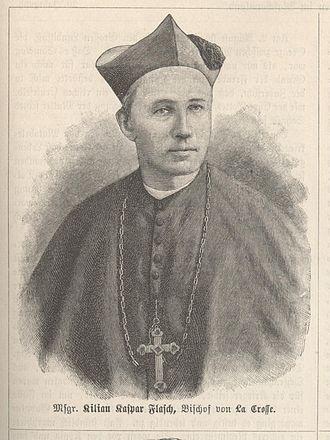 Kilian Caspar Flasch - Engraving published in Die Katholischen Missionen
