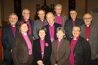 Preses (Church of Norway) - View of the bishops in the Bishops' Conference in 2009