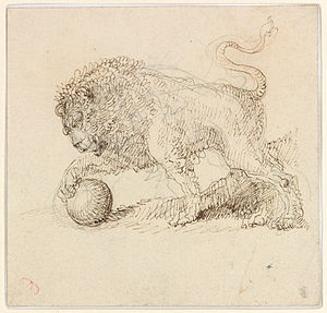Medici lions - Study of one of the Medici Lions by Giuseppe Bernardino Bison (1762–1844)