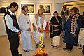 Biswatosh Sengupta - Inaugural Lamp Lighting - Joy Mukhopadhyay Solo Exhibition - Kolkata 2014-12-12 1181.JPG