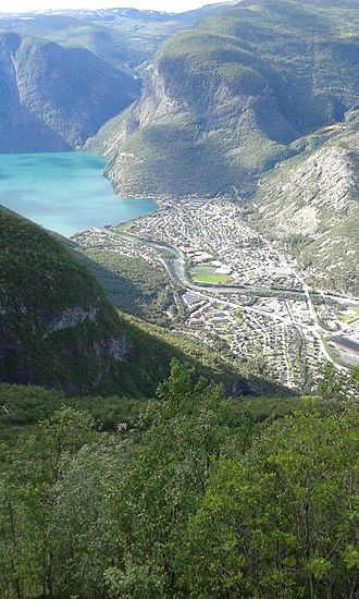 Øvre Årdal - View of Øvre Årdal