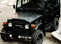 Black Toyota Land Cruiser (40 series)