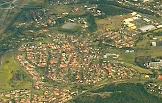 Blackbutt, New South Wales - Aerial view from the east.