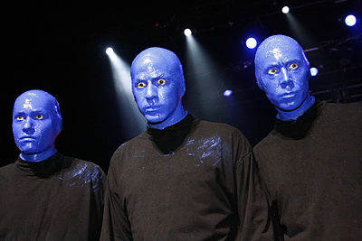 Picture of a band or musician: Blue Man Group