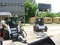 Bobcat S220 and S150 Skid-Steer Loaders at Construct Expo Utilaje 2010.JPG