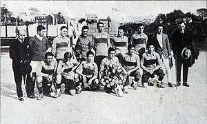 1925 Boca Juniors tour to Europe - Team that played the first match of the tour v. Celta de Vigo on March 5, 1925.