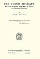 Bodog F. Beck, Bee Venom Therapy title page 1935.jpg