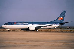 Kegworth air disaster - A British Midland Boeing 737-400 similar to the accident aircraft
