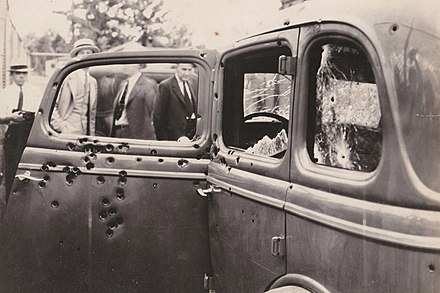 The gunfire was so loud that the posse suffered temporary deafness all afternoon Bonnie Clyde Car.jpg