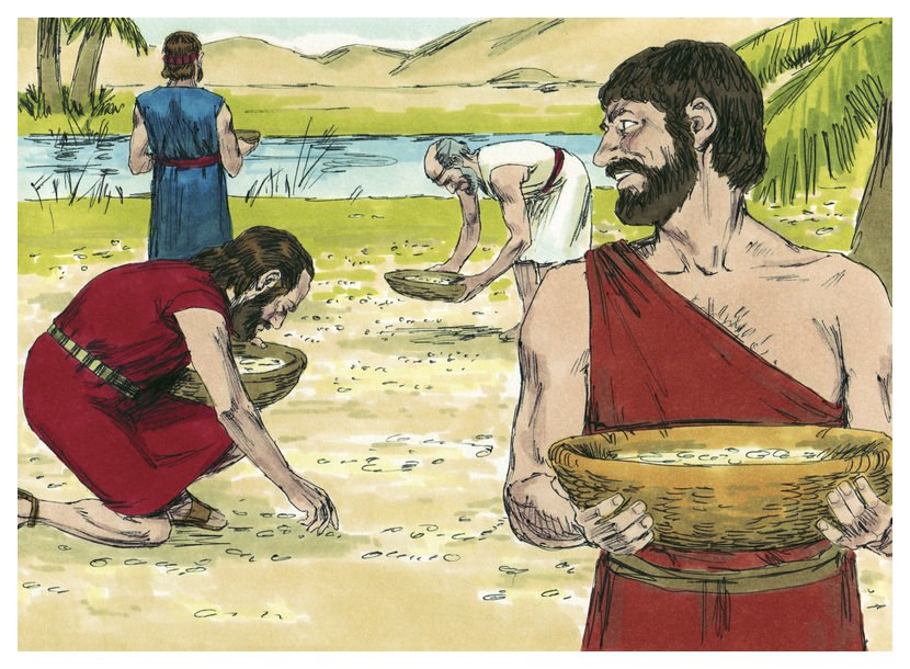 Book of Exodus Chapter 17-6 (Bible Illustrations by Sweet Media)