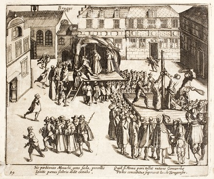 Execution by fire and torture of five homosexual Franciscan friars, Bruges, 26 July 1578