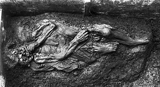 Borremose bodies - The Borremose Woman around the time of her discovery