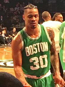 Boston Celtics swingman Gerald Green at the Barclays Center on October 13, 2016.jpg