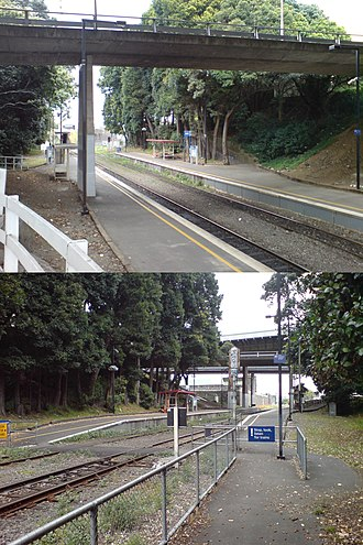 Boston Road railway station - The station in 2007. Above: looking east. Below: looking west.