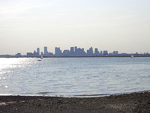 Winthrop, Massachusetts - View of Boston from Winthrop's Point Shirley in 2003