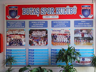 Botaş SK - Club Honors Board at the Menderes Sports Hall