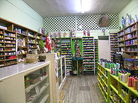 Jamaica Plain has several botánicas, such as this one one Centre Street, that cater to the Latino community and typically sell folk medicine alongside statues of saints, candles decorated with prayers, lucky bamboo, and other items.