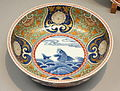 Bowl 1, Imari ware, Edo period, 17th-18th century, stormy seascape design in overglaze enamel - Tokyo National Museum - DSC05317.JPG