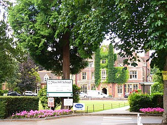 Mickleham, Surrey - Box Hill School Old mansion in Mickleham village, now a boarding school. It follows Kurt Hahn principles.