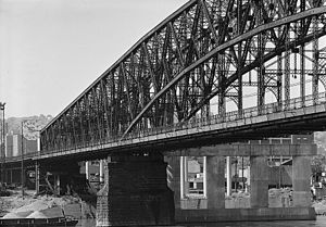 Brady Street Bridge - 1974 HAER photograph of the Brady Street Bridge