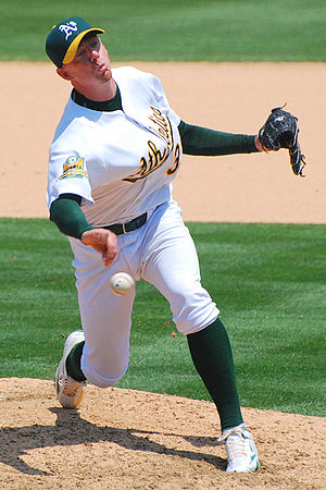 Brad Ziegler - Ziegler pitching for the Oakland Athletics in 2008