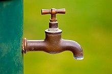 Un rubinetto in ottone