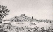 Bratislava (Pozsony), in a drawing from 1787