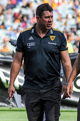 Brett Ratten - Ratten as a Hawthorn assistant coach in April 2017