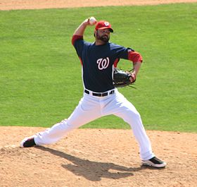 Brian Bruney in einem Spiel für die Washington Nationals