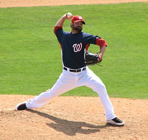 Brian Bruney - Bruney with the Washington Nationals during spring training in 2010