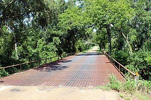National Register of Historic Places listings in Fayette County, Texas - Image: Bridge Round Top