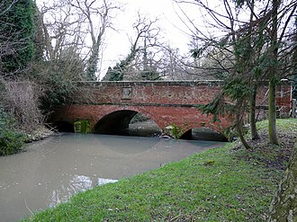 River Swarbourn - Bridge over the Swarbourn in Yoxall