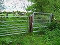 Bridleway gates, Rileyhill, Staffs - geograph.org.uk - 440120.jpg