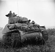 British Sherman tank Italy Dec 1943 IWM NA 9992