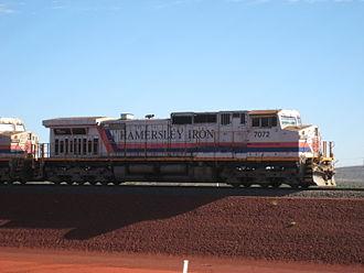 GE Dash 9 Series - Image: Brockman 4 train 2
