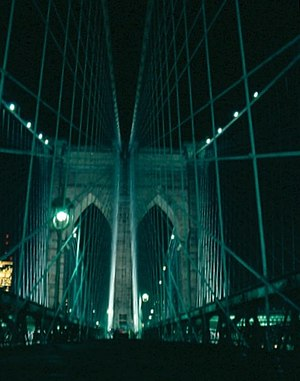 Cloverfield - Brooklyn Bridge, as viewed through the film's first-person narrative