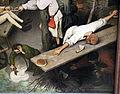Bruegel il vecchio, proverbi fiamminghi, 1559, 35 non arrivare tra un pane e l'altro.JPG