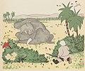 Brunhoff – Histoire de Babar, le petit éléphant (1931) (page 10 crop) - babar pleure sur le corps de sa mère.jpg