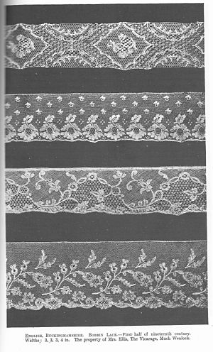 Bucks point lace - Bucks Point lace from first half of 19th century