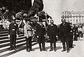 Budapest V., Kossuth Lajos tér, a Parlament lépcsőjénél. Vass József népjóléti és munkaügyi miniszter búcsúztatásán résztvevő miniszterek. Fortepan 77091.jpg
