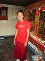 Buddhist sramanera or novice monk. Key Monastery, Spiti.jpg