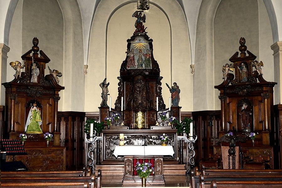 D'Altär an der Kierch zu Buerschent.