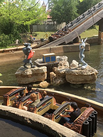 Bugs' White Water Rapids - Bugs Bunny and Yosemite Sam theme on the ride