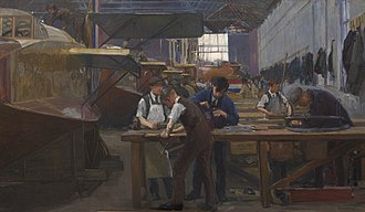 Belle Vue, Bradford - Aircraft factory in Belle Vue during the First World War