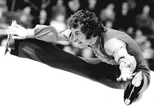 Toller Cranston - Cranston performs a split jump at the 1974 World Figure Skating Championships