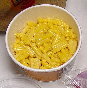 Kraft Dinner - Commercial version of Kraft Macaroni and Cheese sold at Burger King