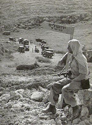 Burma Road (Israel) - A convoy on Burma Road, 1948